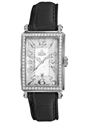 Gevril Women's 7249NL.7 White Mother-of-Pearl Genuine Calf Leather Strap Watch