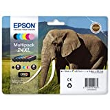Epson C13T24384010 - 24XL Multipack - 6-pack - XL size - black, yellow, cyan, magenta, light magenta, light cyan - original - blister - ink cartridge - for Expression Photo XP-55, XP-750, XP-850, XP-860, XP-950, Expression Premium XP-750, XP-850