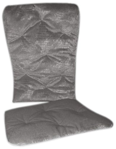 Baby Doll Crocodile Rocking Chair Pad, Silver/Grey front-1061590