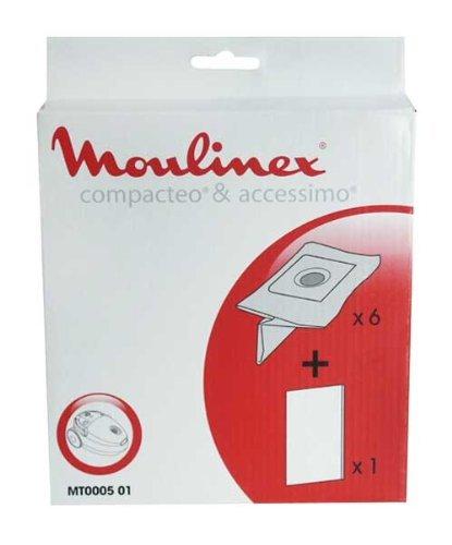 SACHET DE SACS MOULINEX 6+1F (référence MT000501)