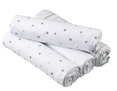 Aden 4 Pack Cotton Muslin Swaddle Blankets from Aden & Anais