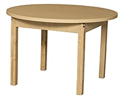 Wood Designs WD36RNDHPL14 Round High Pressure Laminate Table with 14\