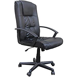 Homegear Deluxe Wheeled Computer Desk Chair