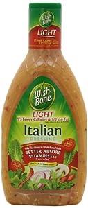 Wish-Bone Salad Dressing, Light Italian, 16 Ounce (Pack of 6)