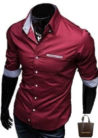 (アーバンセレクト) Urban Select 七分袖 きれいめ シャツ 半袖 クレリック メンズ N-04(エコバッグセット)