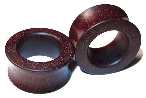17mm Custom Katalox Double Flared Organic Wood Tunnels