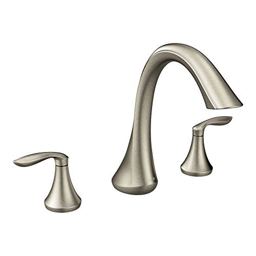 Moen T943BN Eva Two-Handle High Arc Roman Tub Faucet without Valve, Brushed Nickel (Faucet Roman Tub compare prices)