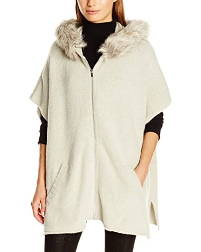 French Connection Women's Autumn Rsvp Hooded Poncho Short Sleeve Poncho, Grey (Light Grey Mel), 8 (M Grey (Light Grey Mel)