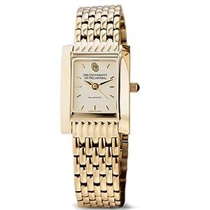 University of Oklahoma Ladies Swiss Watch - Gold Quad Watch with Bracele by M.LaHart & Co.