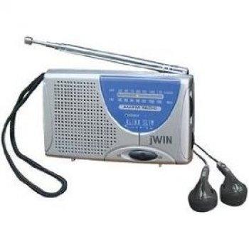 Jwin Jxm6 Super Slim Am/Fm Radio With Speaker