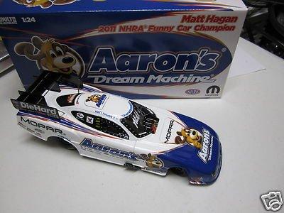 MATT HAGAN 2011 CHAMP NHRA NITRO FUNNY CAR DRIVER Autographed AARON'S DIECAST - NASCAR Cars