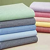 Green Gingham Cradle Sheet-Size