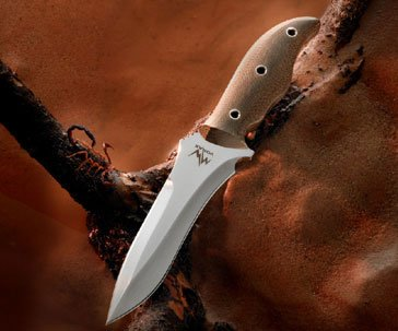 "Mercworx Handmade Vorax Combat Knife Chili Pepper Handle 6"" S30V Blade"