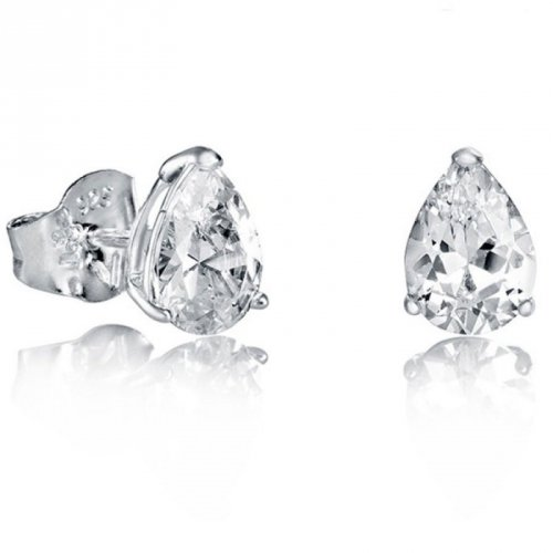 Pulsante orecchini d'argento Viceroy zirconi 21007E000-30 donne