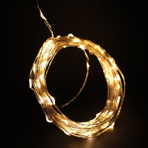 Supernight (Tm) 33Ft Copper Led Strings 100 Leds Warm White Starry Led Lights Led String Light Festival Decorative Led String Lights With Power Adaptor
