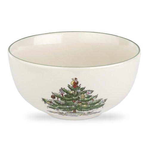 Spode Christmas Tree Fruit Salad Bowl, 5-1/2-Inch, Set of 4 4 Spode Christmas Tree