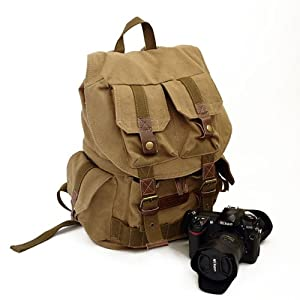 Koolertron Canvas Camera Backpack - AS-KSFB33-YE