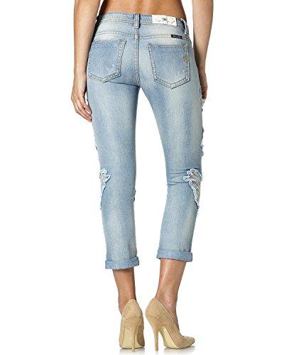 Miss Me Women's Blue Jasmine Boyfriend Ankle Cuff Jeans Denim 28