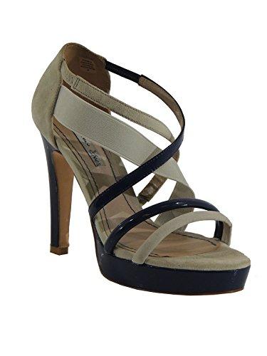 Sandalo donna Tosca Blu scamosciato bicolore SS1311S211 ghiaccio bluette 40