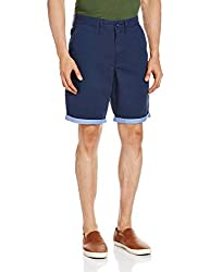 VANS Men's Cotton Shorts (8907222569372_VN0000PUJ09_28_Dress Blues and Guilde)