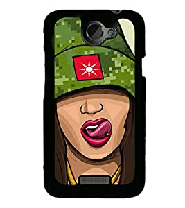 Girl with Cap and Tongue piercing 2D Hard Polycarbonate Designer Back Case Cover for HTC One X :: HTC One X+ :: HTC One X Plus :: HTC One XT