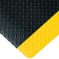 3' x 6' Black/Yellow Diamond Plate Anti-Fatigue Mat (1/Pack)
