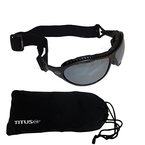 Titus G9 Swappable Two-In-One Goggles - Sports Riders Safety Glasses (Standard, W/ Pouch) (Ga Bulldogs Sunglasses compare prices)