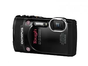 Olympus TG-850 Digitalkamera (16 Megapixel CMOS Sensor, 5-fach opt. Zoom, klappbares 7,6 cm (3 Zoll) LCD-Display, Full HD, wasserdicht bis 10m) mit 21mm Weitwinkelobjektiv schwarz