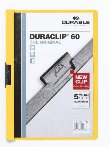 Cartellina Duraclip Durable  6mm  60 fogli  giallo  220904