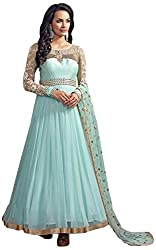 Sayshopp Fashion Women's Georgette Unstitched Salwar Suit(Off White)