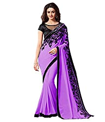 khanak export Women's Georgette Saree(KE_12_Multi-Coloured_Free Size)