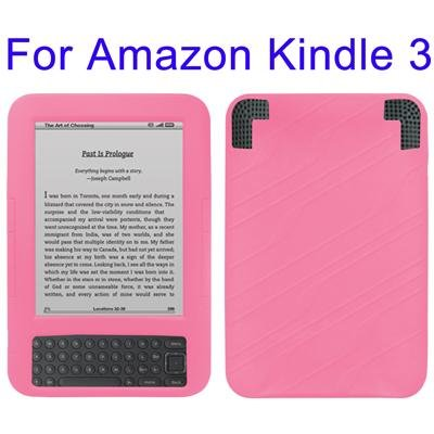 PINK SILICON COVER CASE FOR AMAZON