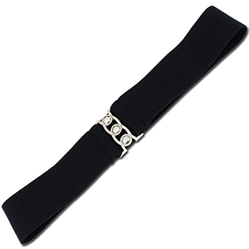 VOSO-Fashion Cinch Buckle Women 2 Inch Wide Stretch