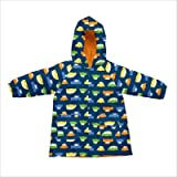 Lightweight Raincoat in Navy Cars Size: 3 - 4 Year