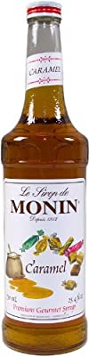 Monin Flavored Syrup, Caramel, 33.8-Ounce Plastic Bottles (Pack of 4) from Monin