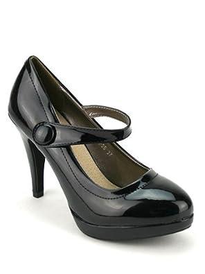 cendriyon escarpin noir vernis babies sharon chaussures femme taille 41 chaussures. Black Bedroom Furniture Sets. Home Design Ideas