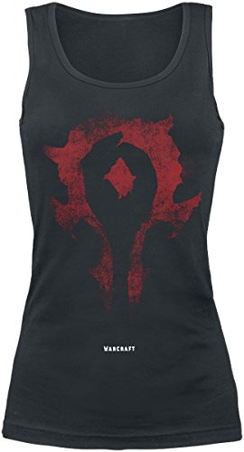 Warcraft Horde Emblem Top donna nero XXL