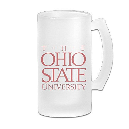 [Ohio State University 16OZ Frosted Glass Beer Stein Novelty Glass Beer Mugs] (Columbus Ohio Halloween)