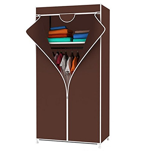 Evana 2.3 Feet Creative Purple Cabinet,Easy Installation Folding Wardrobe Cupboard Almirah Foldable Storage Rack Collapsible Cloths Organizer  available at amazon for Rs.999