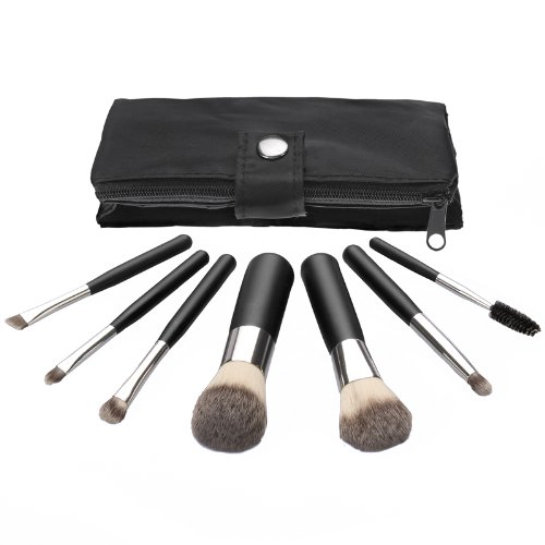 Coastal Scents 7 Piece Synthetic Travel Brush Set, 3.05-Ounce