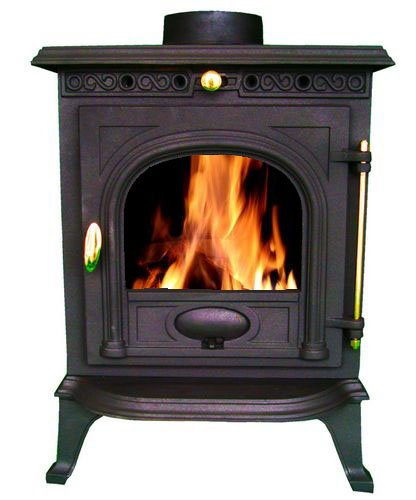 FoxHunter WoodBurner NEW Cast Iron Log Burner MultiFuel Wood Burning 6 kw Stove JA014
