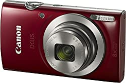 Canon IXUS 175 Digital Camera (Red) with 8GB Memory Card and Camera Case