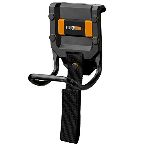 ToughBuilt - Modular Hammer Loop | Durable Hammer Holder/Holster/Catch Clips on any Belt or Pocket, Extreme-duty Steel Loop/Metal Ring, Unique Power Cord Mgmt, Heavy-duty Construction (TB-52) (Tamaño: Modular Hammer Loop)
