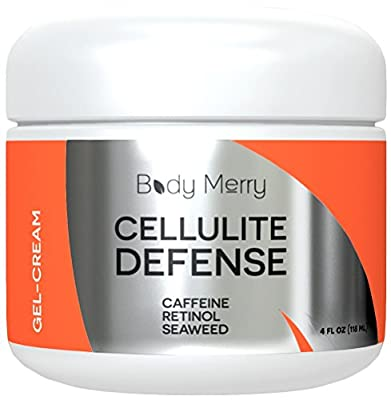 Caffeine Activated Cellulite Cream For Firming - The Only Gel With Stimulating Ingredients Like Retinol + Seaweed to Boost Circulation While Toning Uneven Skin - #GetHappyAboutYourSkin by Body Merry