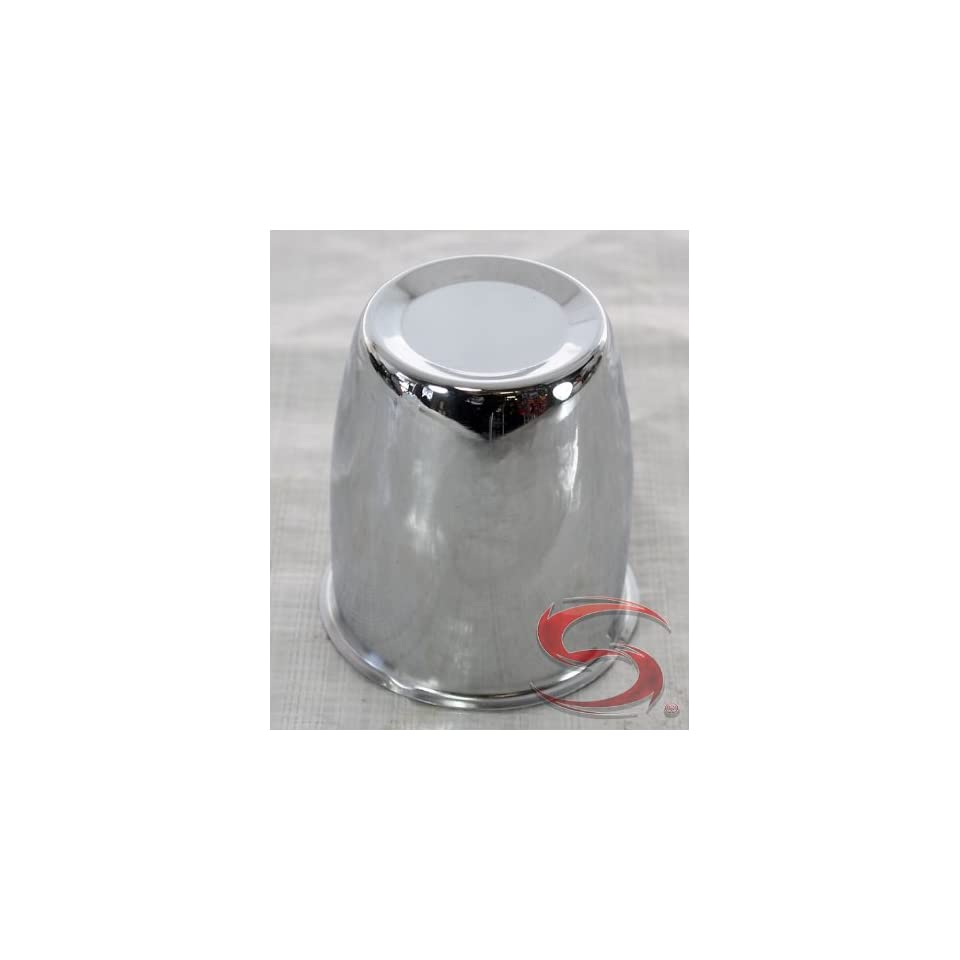 2.95 in Trailer Wheel Center Cap Chrome Plated Steel Closed End Automotive