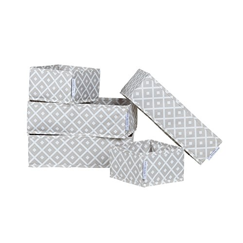 South Shore Storit Diamonds Canvas Drawer Organizers with Pattern (5 Pack) (Canvas Storage Drawers compare prices)
