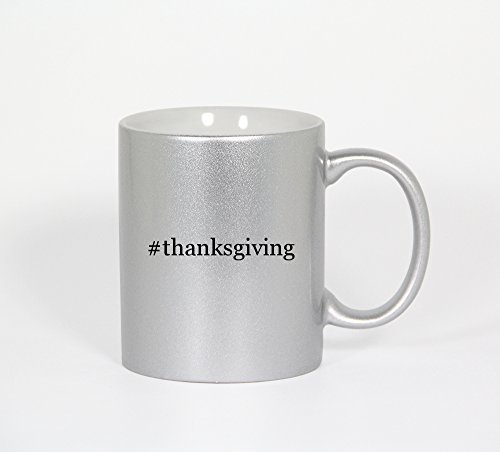 #Thanksgiving - Funny Hashtag 11Oz Silver Coffee Mug Cup