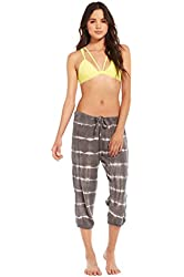 Chaser Clothing Rock Tie Dye Reverse Fleece Slouchy Cropped Pants