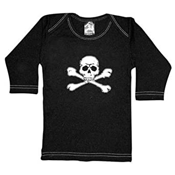 Rebel Ink Baby 363ls06 Skull & Crossed Bones- 0-6 Month Black Long Sleeve Tee