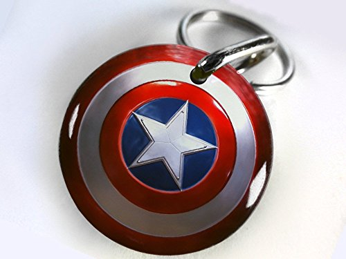 Pet ID Tags Dog Tags Avengers Captain America (Large1 1/2